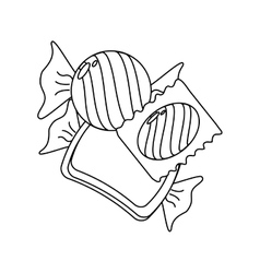 Sugar food design candy icon sweet vector image vector image