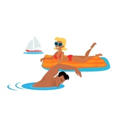 Summer Fun and Entertainments vector image vector image