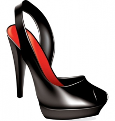 Vector high heel shoe vector