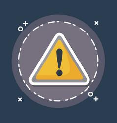 Warning sign icon vector