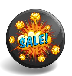 Word sale on explosion clouds vector