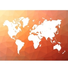 World map silhouette on low poly background vector