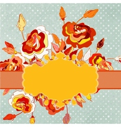 Polka-dot flowers and copyspace eps 8 vector