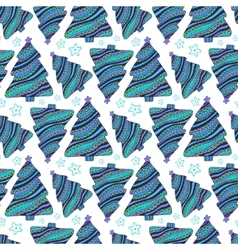 Seamless pattern with hand drawn doodle vector image