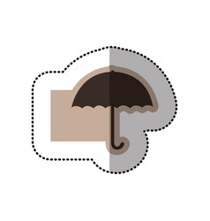 color emblem sticker umbrella icon vector image