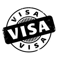 visa rubber stamp vector image