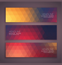 Geometrical banners template set vector