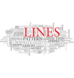 Lines word cloud concept vector