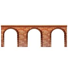 A concrete bridge vector image