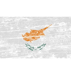 Flag of cyprus with old texture vector