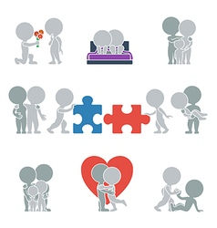 Flat people relationships vector