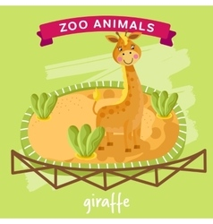 Zoo animal giraffe vector