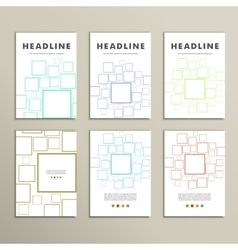 Cover set banner square background modern vector