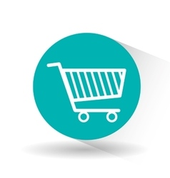 Shopping cart design vector
