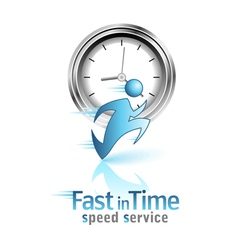 Fast in time social icon vector