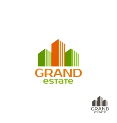 Grand estate logo real estate logo house logo vector