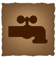 Water faucet sign vector