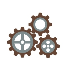 Cogwheel machinery and development gear icon vector