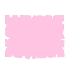 Parchment old paper banner pink vector