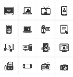 Electronics Icons vector image