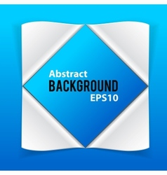 Abstract paper elements on blue background vector image vector image