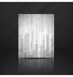 Abstract White Rectangle Shapes Background vector image vector image