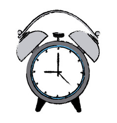 Alarm clock wake up time ring icon vector