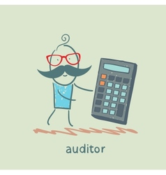 auditor with a calculator vector image vector image