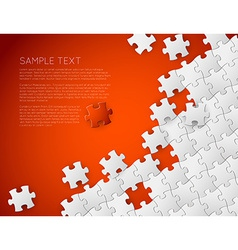 background made from white puzzle pieces vector image