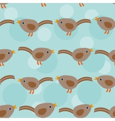 Birds Seamless pattern with funny cute animal on a vector image