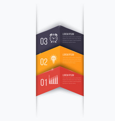 business project template with arrows vector image vector image