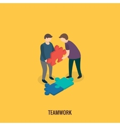 Business solution concept teamwork vector image vector image
