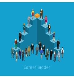 Career ladder with people vector