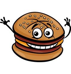 cheeseburger cartoon character vector image