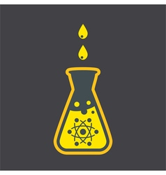 Chemical flask sign vector