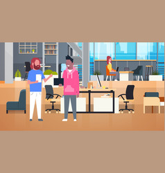 coworkers businesspeople working together in vector image vector image