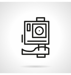 Extreme action camera simple line icon vector