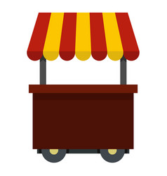 Fast food cart icon isolated vector