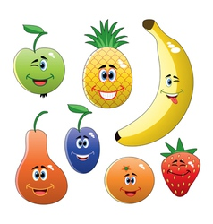 funny fruits vector image