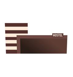 Hostel building guest house hotel building vector