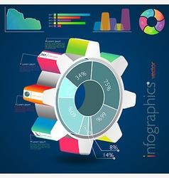infographic cogwheel vector image vector image