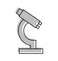 Laboratory microscope isolated icon vector