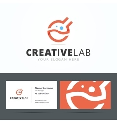Logo and business card template for creative vector