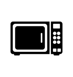 Microwave icon Flat design vector image