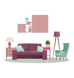 Modern 3d interior design concept vector image