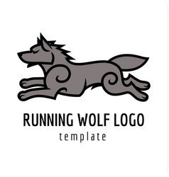 Running wolf vector