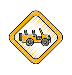 safari signal road jeep car transport vector image