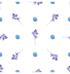 Seamless floral Blue pattern vector image