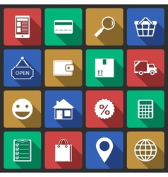 Set of internet shopping icons vector