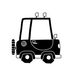 Silhouette tractor farm vehicle plant transport vector